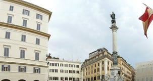 Rome panorama. Panorama of skyline of Rome near the Spanish Steps stock image