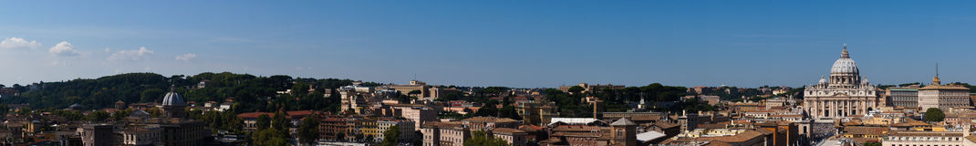 Rome panorama. Taken from the Saint Angelo castle Stock Image