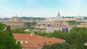 Rome panorama view, italy, 4k stock video