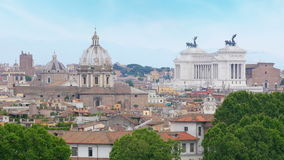 Rome panorama view, italy, 4k stock video footage