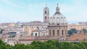 Rome panorama view, italy, 4k stock footage