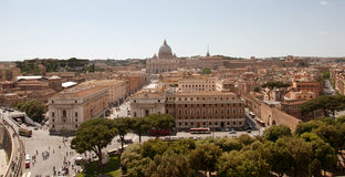 Rome panorama. View of St. Peter's Basilica, Rome, Italy Royalty Free Stock Photos