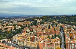 Rome panoramabyggnad royaltyfri foto