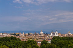 Rome panoramic landscape. Summer day Royalty Free Stock Photos