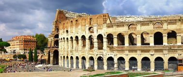 Rome, panoramic view with Colosseo Stock Photography