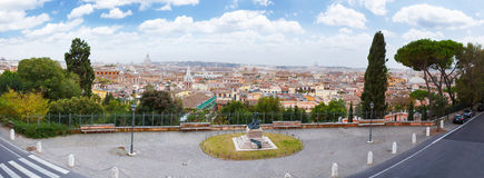 Rome Panoramic view. Stock Photo