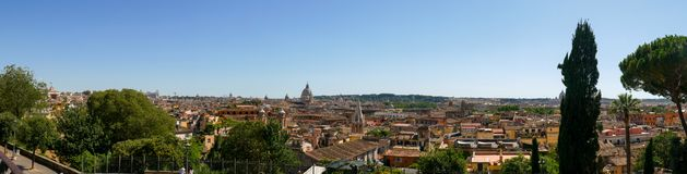Rome panoramic view from Villa Borghese. royalty free stock photo