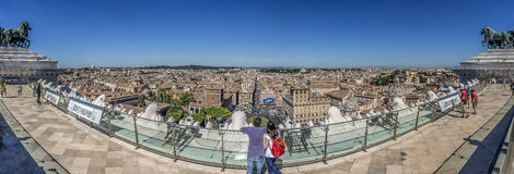 Rome Panorma Royalty Free Stock Photo