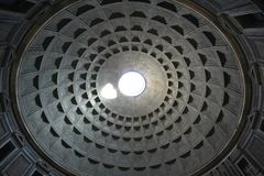 Rome Pantheon ceiling Stock Photography
