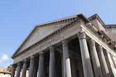 Rome Pantheon detail Stock Image