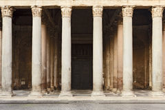 Rome Pantheon Facade Part Royalty Free Stock Images