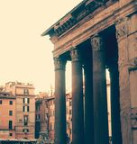 Rome pantheon square stock images