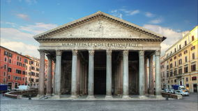 Rome - pantheon, time lapse Stock Photography