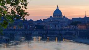 Rome par crépuscule Photo libre de droits