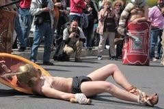 Rome Parade Defeated Gladiator Stock Photo