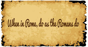When In Rome Royalty Free Stock Photo