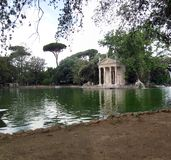Rome. Park of Villa Borghese is a haven of Rome, Italy royalty free stock photos