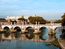 Rome, passerelle de Sant'Angelo Photographie stock libre de droits
