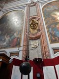 Rome - Pendulum in the Basilica of Santa Maria degli Angeli and Martyrs Stock Photo
