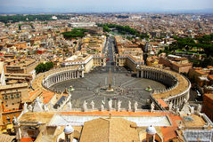 Rome, Peter Square. Rome's bird view from San Pietro Dome Stock Photography