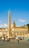 Rome Piazza del Popolo Royalty Free Stock Photo