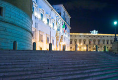 Rome. Piazza del Quirinale and the palace Stock Photos