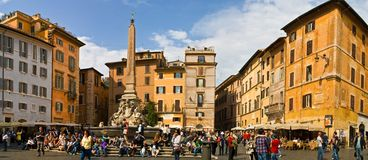 Rome Piazza della Rotonda. Piazza della Rotonda in front of the Pantheon, Rome, Italy Royalty Free Stock Photo