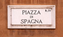 Rome, Piazza di Spagna Photos stock