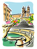Rome (Piazza di Spagna) Stock Photo