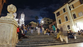 Rome Piazza di Spagna Spanish Steps Timelapse stock video footage