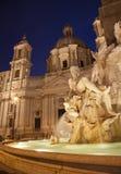 Rome - Piazza Navona - Fontana dei Fiumi Royalty Free Stock Images