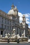Rome - Piazza Navona Fountain Stock Photos