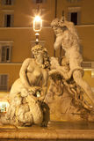 Rome - Piazza Navona Fountain of Neptune Stock Images
