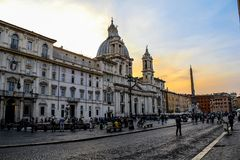 Rome Piazza Navona stock photo