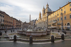 Rome - Piazza Navona in morning Royalty Free Stock Images