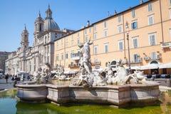 Rome, Piazza Navona, Neptune Fountain Stock Image