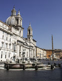 Rome, Piazza Navona with the St. Agnes in Agone church Royalty Free Stock Photo