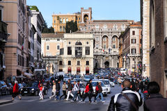 Rome - Piazza Venezia Royalty Free Stock Photography