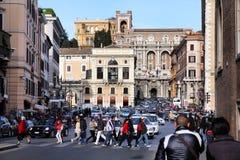Rome - Piazza Venezia Royaltyfri Fotografi