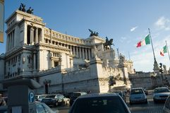Rome, Piazza Venezia Royalty Free Stock Images