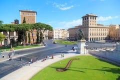 rome Piazza Venezia Fotografia Royalty Free