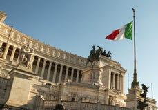 Rome, Piazza Venezia Stock Afbeelding