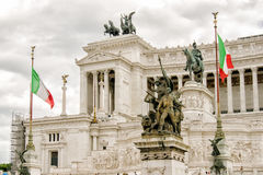ROME, Piazza Venezia, architecture. Rome, Italy. Vittorio Emanuele Monument in Piazza Venezia is one of the most famous monuments in Rome Stock Images