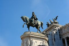Rome Piazza Venezia Statue Stock Images
