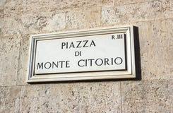 Rome piazzadi Monte Citorio Arkivbild