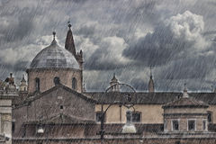 Rome, Piazzale Flaminio. Rainy day in Piazzale Flaminio, Rome - ITALY Stock Photos