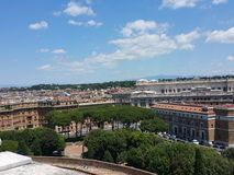 Rome. Picture of Rome shoot from St Angel Castle rooftop Stock Photos