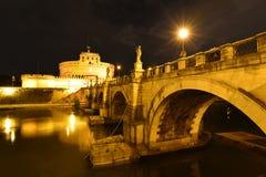 Rome Ponte Sant Angelo Fotografering för Bildbyråer