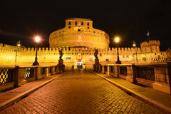 Rome Ponte Sant Angelo Royaltyfri Foto