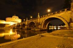 Rome Ponte Sant Angelo Royaltyfria Bilder